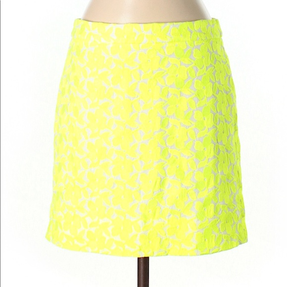 cd84e06829 J. Crew Skirts | J Crew Yellow Lace Skirt Size 2 | Poshmark